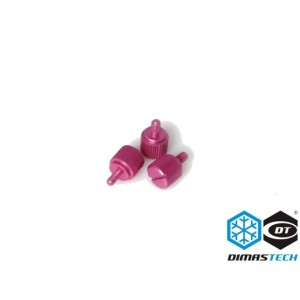 DimasTech® ThumbScrews M3 Thread 10 Pieces Pack - Electric Purple (BT084)