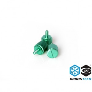 DimasTech® ThumbScrews M3 Thread 10 Pieces Pack - Light Green (BT085)