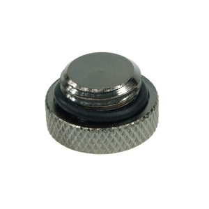 Phobya G1/4 Knurled Screw-in Seal Cap - High Profile - Black Nickel (68127)