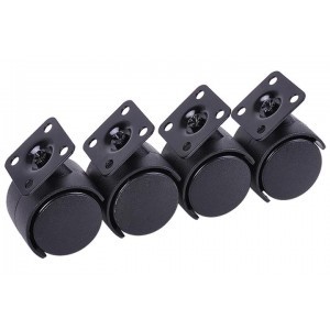 Phobya Caster Feet M4x10 - 4 pcs. Black (75106)
