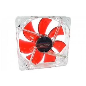 Phobya G-Silent 120 x 25mm Fan - 1500RPM | Red LED (78216)