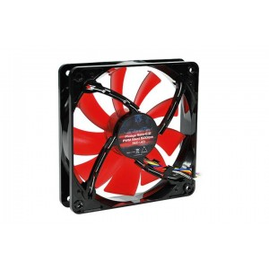 Phobya Nano-G 120 x 25mm PWM Waterproof Fan -1500RPM | Red LED (78266)