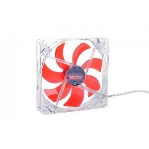 Phobya G-Silent 140 x 25mm Fan - 1100RPM | Red LED (79083)