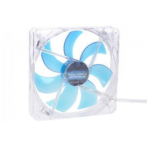 Phobya G-Silent 140 x 25mm Fan - 1100RPM | Blue LED (79117)