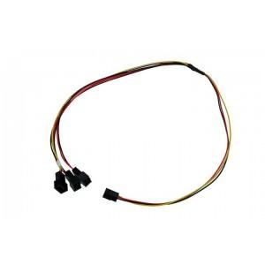 Phobya 3-Pin Fan to 3x 3-Pin Fan Breakout Cable - 60cm (81124)