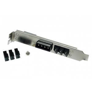 Phobya PCI Slot Cover 4Pin Molex & 3x 3Pin Fan Plug (82391)