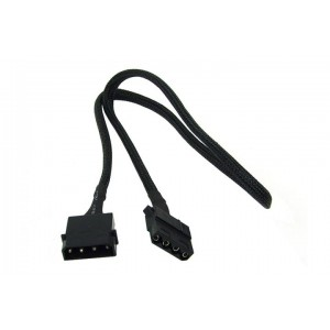 Phobya 4-Pin Molex Extension Cable - 60cm | Black (87273)