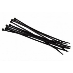 Phobya Zip Tie Black 3.6x250mm - 10 pcs (93092)