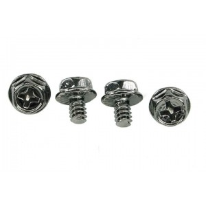 Phobya UNC 6-32 x 5mm Screws - Black Nickel - 4pcs (94577)