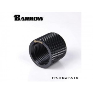 """Barrow G1/4"""" 15mm Female to Female Extension Fitting - Black (TBZT-A15)"""