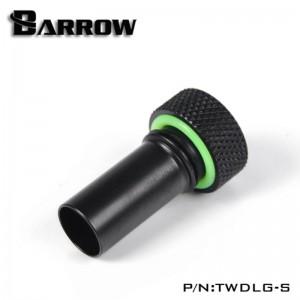 "Barrow G1/4"" Aqua-Pipe Reservoir Fill Tube Fitting ""Short Version"" - Black (TWDLG-S)"