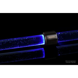 Alphacool Aurora HardTube LED Ring 16mm Deep Black - Blue (15291)