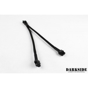 "DarkSide 6"" RGB Y-Cable - Jet Black Sleeved (DS-0539)"