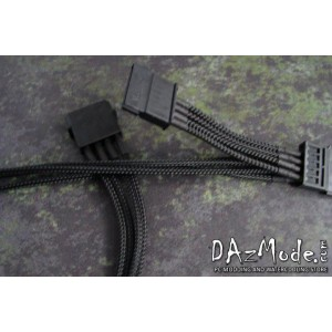 "DarkSide SATA 2-WAY Power Cable 12"" (30cm) - Jet Black (DS-0551)"