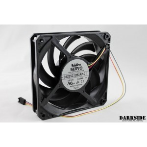 Gentle Typhoon Performance Radiator Fan - 1150rpm, 37cfm - Black Edition (D1225C12B5AP-71)