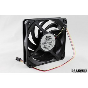 Gentle Typhoon Performance Radiator Fan - 1850rpm, 58cfm - Black Edition (D1225C12B5AP-73)