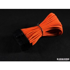 "Darkside 24-Pin ITX 7"" (20cm) HSL Single Braid Extension Cable - Orange (DS-0638)"