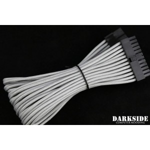 "Darkside 24-Pin ATX 12"" (30cm) HSL Single Braid Extension Cable - Titanium Gray (DS-0699)"