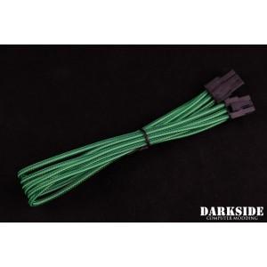 """Darkside 6-Pin PCI-E 12"""" (30cm) HSL Single Braid Extension Cable - Commando UV (DS-0706)"""