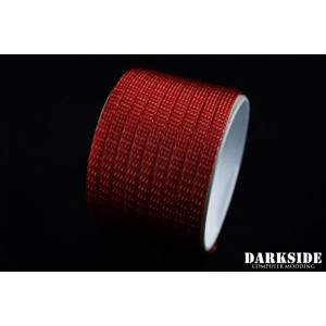 "Darkside 6mm (1/4"") High Density Cable Sleeving - Metallic Red (DS-0767)"