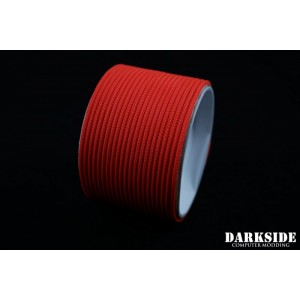 "Darkside 2mm (5/64"") High Density Cable Sleeving - Coral UV (DS-0837)"