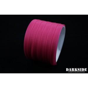 "DarkSide 10mm (3/8"") High Density SATA Cable Sleeving - Hot Pink (UV) (DS-0845)"