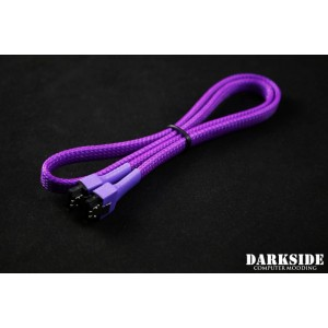 """Darkside 60cm (24"""") SATA 3.0 180° to 180°  Data Cable with Latch - UV Purple 7P (DS-0822)"""