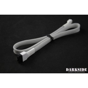 "Darkside 45cm (18"") SATA 3.0 180° to 180°  Data Cable with Latch - Titanium Gray 7P (DS-0824)"