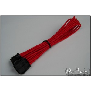 "Darkside 8-Pin PCI-E 12"" (30cm) HSL Single Braid Extension Cable - Red UV (DS-0182)"