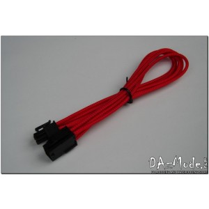 "Darkside 6-Pin PCI-E 12"" (30cm) HSL Single Braid Extension Cable - Red UV (DS-0183)"