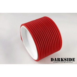 "Darkside 4mm (5/32"") High Density Cable Sleeving - Red UV (DS-HD4-GRN)"