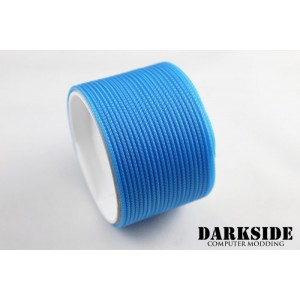 "Darkside 2mm (5/64"") High Density Cable Sleeving - Aquamarine Blue (DS-0057)"