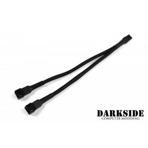 Darkside 3-Pin Dual Fan Power Y-Cable Splitter - Jet Black (DS-0094)