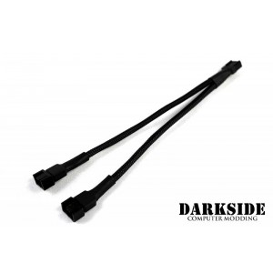 Darkside 4-Pin Dual Fan Power Y-Cable Splitter - Jet Black (DS-0095)