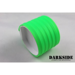 "DarkSide 10mm (3/8"") High Density SATA Cable Sleeving - Green UV (DS-0111)"