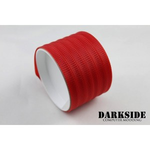 "DarkSide 10mm (3/8"") High Density SATA Cable Sleeving - Red UV (DS-0111)"