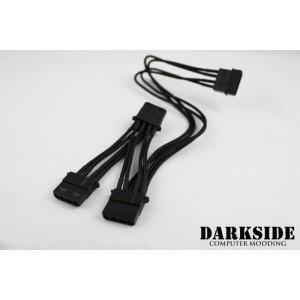 Darkside 3-Way 4-Pin MOLEX Power Y-Cable Splitter - Jet Black (DS-0142)