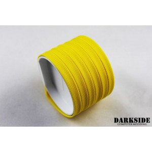"Darkside 6mm (1/4"") High Density Cable Sleeving - Yellow II (DS-0429)"
