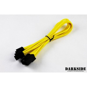 "Darkside 4+4 EPS 12"" (30cm) HSL Single Braid Extension Cable - Yellow II UV (DS-0435)"