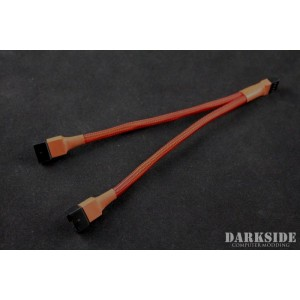Darkside 4-Pin Dual Fan Power Y-Cable Splitter - Red UV (DS-0473)