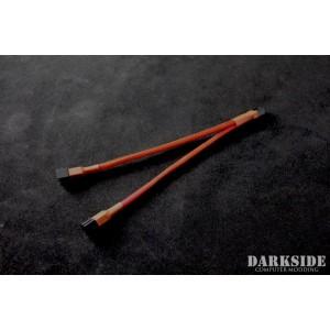 Darkside 3-Pin Dual Fan Power Y-Cable Splitter - Red UV (DS-0438)