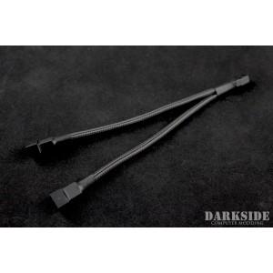 Darkside 3-Pin Dual Fan Power Y-Cable Splitter - Graphite Metallic (DS-0442)