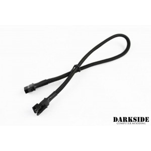"Darkside 12"" (30cm) RGB Extension M/F Cable - Jet Black (DS-0502)"
