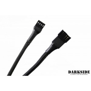 "Darkside 4-Pin 70cm (27"") M/F PWM Fan Sleeved Cable - Jet Black (DS-0578)"
