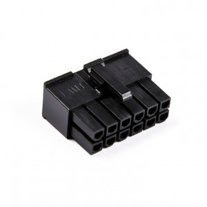 MMM 12-Pin Female Connector - Black (MOD-0246)