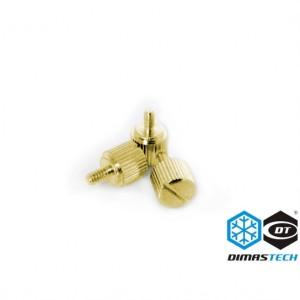 DimasTech® ThumbScrews 6-32 Thread 10 Pieces Pack - Luxury Gold (BT098)