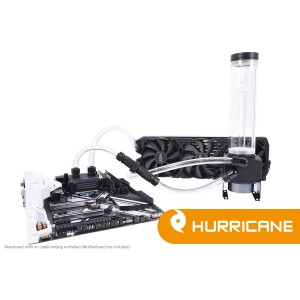 Alphacool Eissturm Gaming Hurricane Copper 45 3x120mm - Complete Kit (11469)