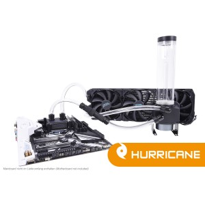 Alphacool Eissturm Gaming Hurricane Copper 45 3x140mm - Complete Kit (11470)