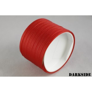 """Darkside 6mm (1/4"""") High Density Cable Sleeving - Red UV (DS-HD6-RED)"""