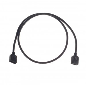ModMyMods 4-Pin Female RGB LED Strip 50cm Extension Cable - Black (MOD-0201)